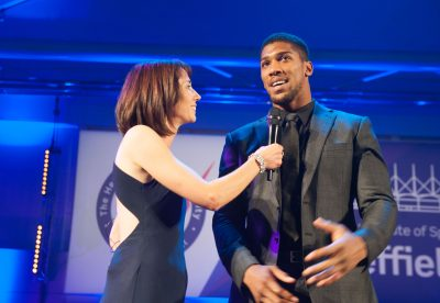 Anthony Joshua and Tanya Arnold