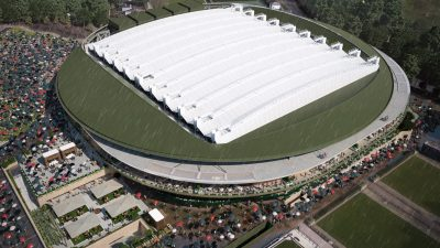 Wimbledon roof closed