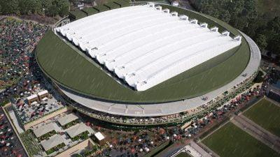 Wimbledon roof closed
