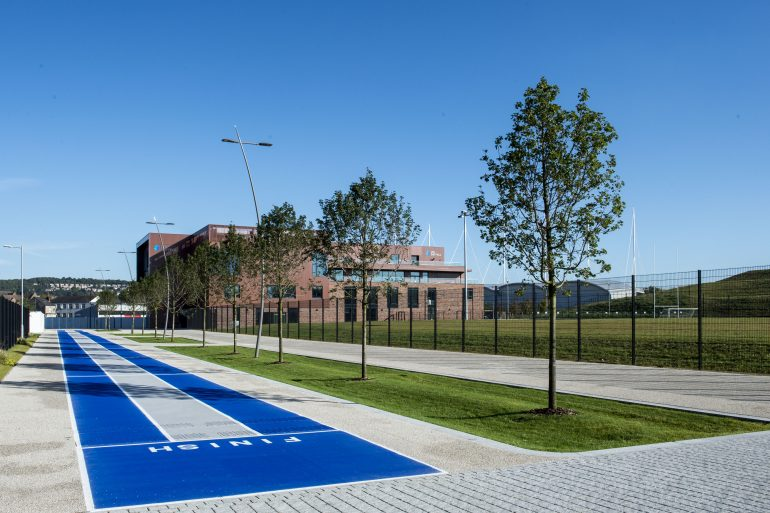 100-meter track on Sheffield Olympic Legacy Park