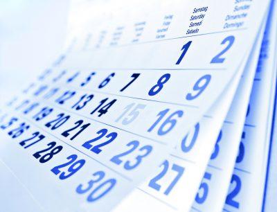 Calendar Blurred