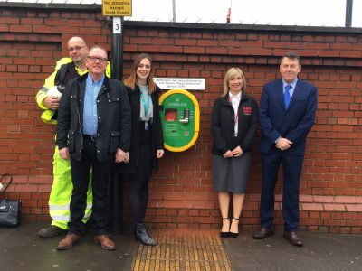 Defibrillator installed at Olive Grove