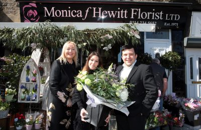Monica F Hewitt Florists, Sheffield, 29 March 2019