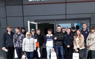 Motorsport students at Silverstone