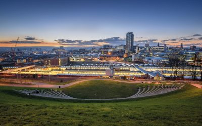 Sheffield City Skyline at Dusk