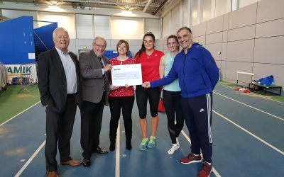 Yorkshire Sport Foundation cheque presentation
