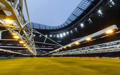 The Pitch is Laid at the New Tottenham Hotspur Stadium