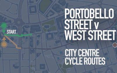 city centre cycle routes