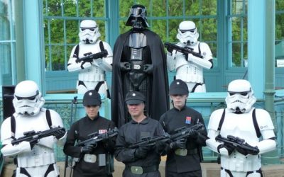 darth vader and stormtroopers at Weston Park