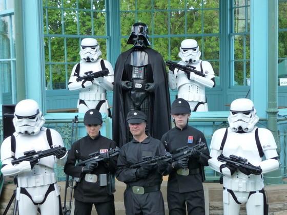 darth vader and stormtroopers at Weston Park