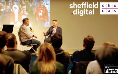 Chris Dymond (Sheffield Digital) James Fox (3Squared) at Sheffield Digital Showcase 2 Spring 2019