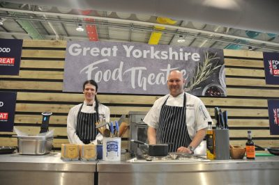 Student cooks live at star-studded event