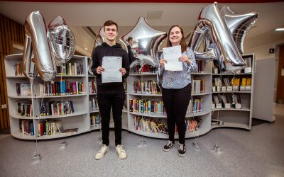 Students at Barnsley Sixth Form College celebrate their A Level results