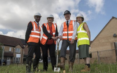 Cutting the first Sod, Weaklands Avenue, Sheffield, Engie