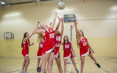 Barnsley Sports Academy students playing netball