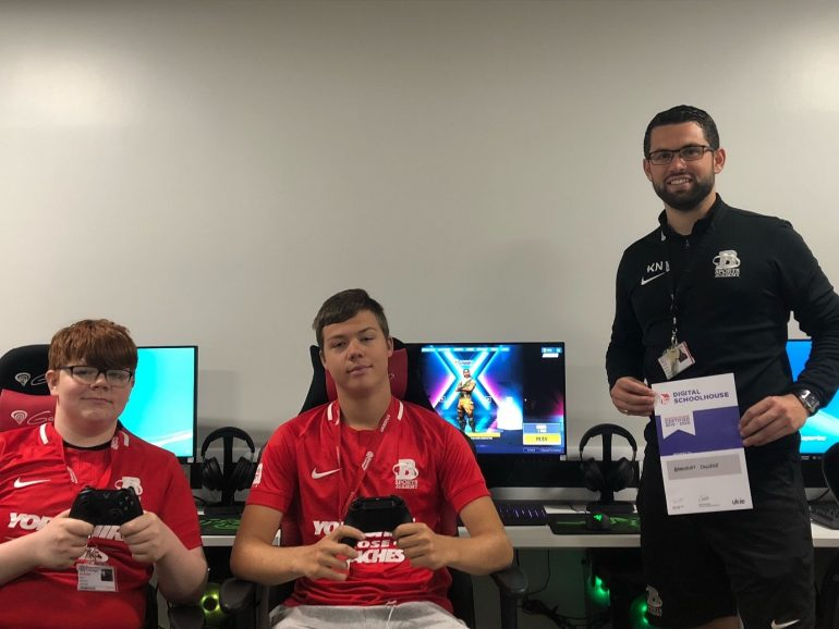 Esports students in our new state-of-the-art Esports Arena_