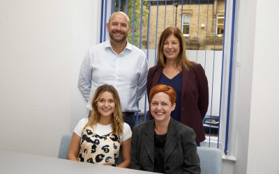 FP Back row – Nick Brier (Director BHP FP), Joy Clegg (MD of BHP FP) Front row - Sarah Marie Hudson (Operations Manager BHP FP)