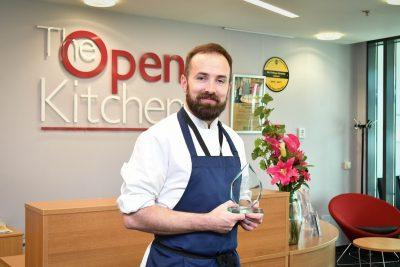 James Key with his award.