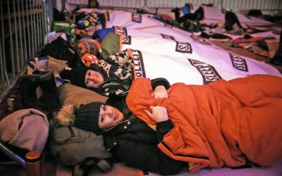 Fundraisers bed down for the night at Sleep Out