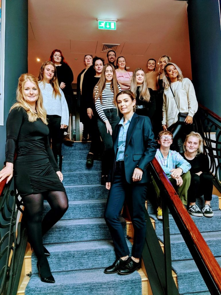 International Travel and Tourism (Events) students at Malmaison Hotel.