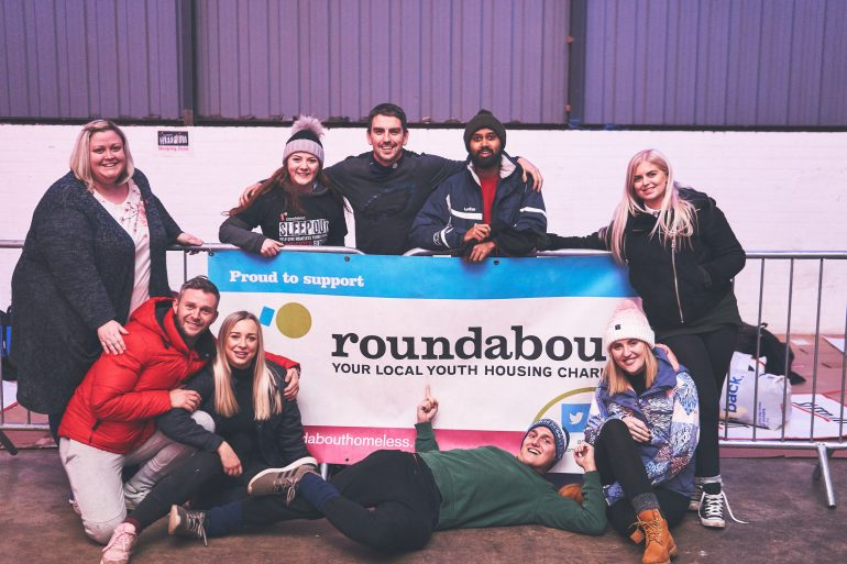 Team from Event Sponsor Sharp Consultancy with Roundabout Fundraiser Emily Bush