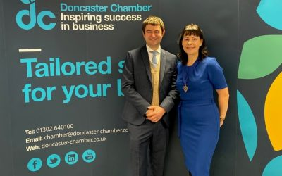 Dan Fell welcomes Jill Wood as the new Chamber president