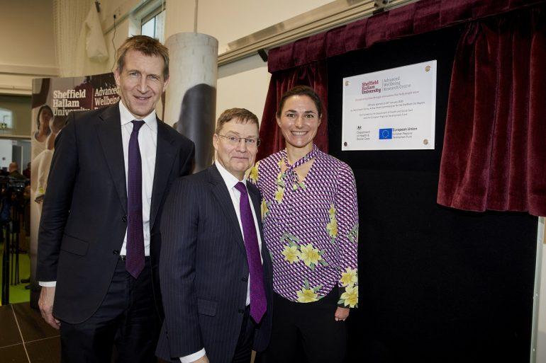 NEWS 9 AWRC Dan Jarvis MP, Sir Chris Husbands, Dame Sarah Storey