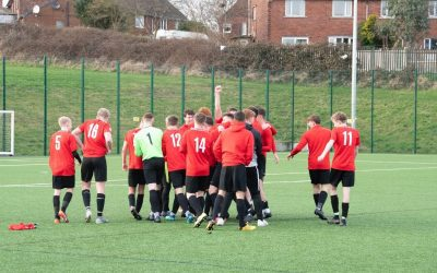 Barnsley College footballers celebrate being crowned champions. (3)
