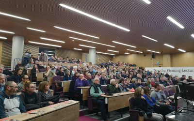 The audience at the special screening of Paul Adams film Quiet Flows the Don at Sheffield Hallam University
